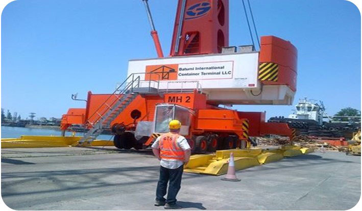 Batumi International Container Terminal – GOTWALD type portal crane