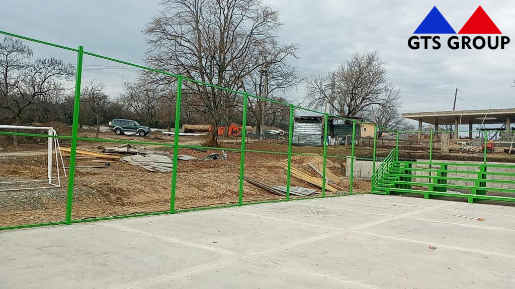 Current ongoing project, painting and installation of metal structures located in the territory of the main park in the city of Gurjaani, Customer Company is