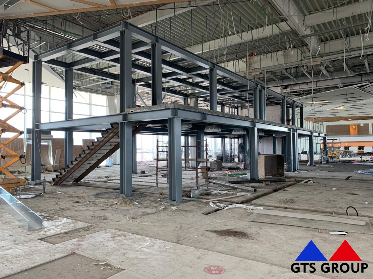 Reconstruction works  of the old building of Kutaisi Kopitnari Airport